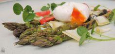 Groene asperges met geitenkaas