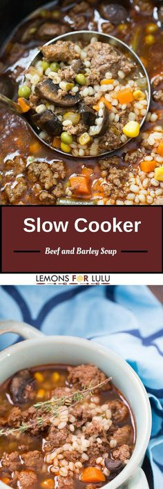 When cold weather hits, you want to feel warm and cozy. Nothing makes you feel better than a warm bowl of beef and barley soup!  Total comfort food!