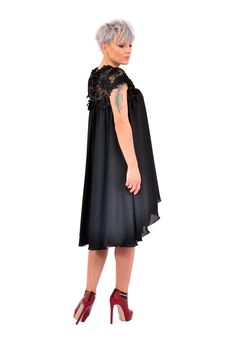 If you are looking for a romantic and delicate outfitour black dress, with flower embroidery is the perfect choice.  Please check our size chart before placing the order. If you have doubts or questions about it DO NOT HESITATEto contact us! We are here to help you! Flower Embroidery, Size Chart, Delicate, Romantic, This Or That Questions, Check, Outfits, Dresses, Vestidos