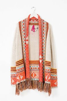Desigual Fringed cardigan. Discover the fall-winter 2015 collection!  Cardigan Con Flecos 1661b02b1fd0