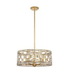 Savoy House 7-840-5-33 Clarion 5 Light 24 inch Gold Bullion Pendant Ceiling Light #LightingNewYork