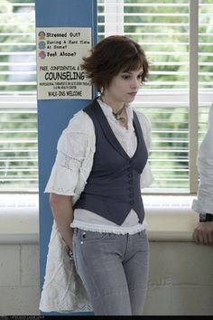 Alice Cullen in Twilight | Costume Designer, Alice Clark: ''Alice is kooky and very artistic, so it was important to throw texture and layers on her, and for her to wear things in unusual ways.''