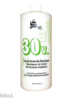 30 VOLUME SUPERSTAR STABILIZED PEROXIDE CREAM Hair Color DEVELOPER_32 OZ.