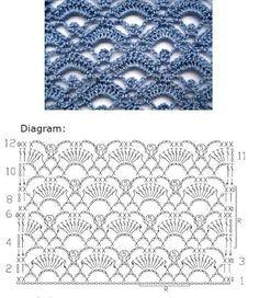 Crochet Lace stitch Nr 2006 ~~ MyPicot | Free crochet patterns: