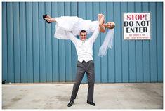 fun wedding photography, Crossfit couple