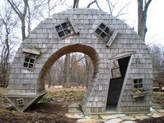 When you say you want an unusual shed, be careful what you wish for! Twisted House by John McNaughton
