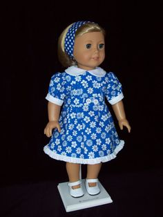 American Girl Doll or 18 inch doll dress and by ASewSewShop