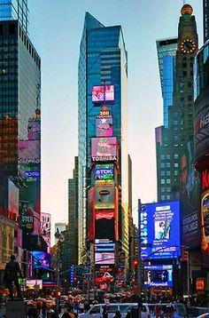 I will take a cliche Times Square picture lol