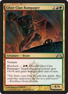 Ghor-Clan Rampager mtg Magic the Gathering Gatecrash uncommon red green gruul trample beast card