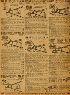 Carriage Harnesses 1913 Sears Roebuck Catalog no. Vintage Stuff, Vintage Ads, Vintage Items, Vintage House Plans, Horse Care, Wwi, Titanic, Historical Photos, The Borrowers