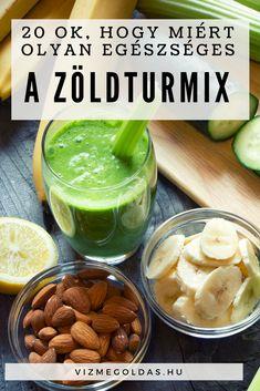 Tiszta étkezés - 20 ok, hogy miért olyan egészséges a zöld turmix Okra, Healthy Recipes, Healthy Meals, Pickles, Cucumber, Smoothies, Juice, Cukor, Clean Eating
