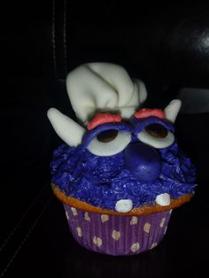 Purple Monster Cupcake, via Flickr. Monster Cupcakes, Pastry Chef, Treats, Purple, Desserts, Food, Sweet Like Candy, Tailgate Desserts, Goodies