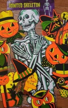 vintage halloween decorations - Bing Images - I remember we had these decorations when I was a kid