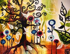 Tangled Tree Mural - Natasha Wescoat| Murals Your Way