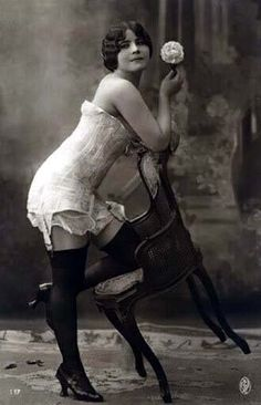 Sexy Corset Pose from the Early 1900's