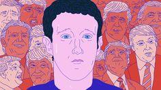 Facebook må ta ansvar for hva som publiseres på plattformen, skriver Emily Bell i Columbia Journalism Review - på norsk hos NRKbeta Illustrasjon: Rashid Akrim / NRK