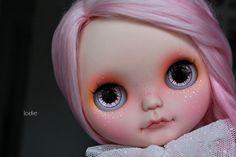 Poppy custom ooak Blythe doll by Jodiedolls with alpaca reroot by PattyParis