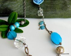 Items similar to Beautiful Beaded Necklace - Turquoise Blue / Silver - / on Etsy Beaded Necklace, Pendant Necklace, Blue And Silver, Turquoise, Etsy, Beautiful, Jewelry, Beaded Collar, Jewlery