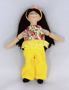 Toy Doll  Brunette Doll  Dress Up Doll  Handmade For Kids