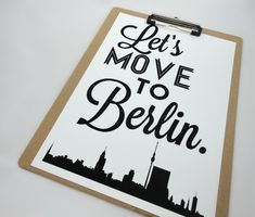 Marvelous Lets Move to Berlin Art Print Berlin Poster European Cities Travel Print Germany Berlin Skyline Wall Art Gift for Artists