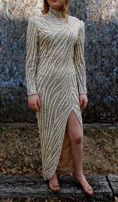 Turtleneck Beaded Dress