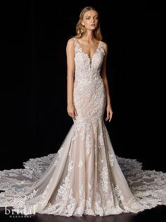 Poppy Perfect Wedding Dress, Dream Wedding Dresses, Bridal Dresses, Wedding Dress Necklines, Elegant Wedding, Blush Bridal, Allure Bridal, Bridal Wardrobe, Couture Wedding Gowns
