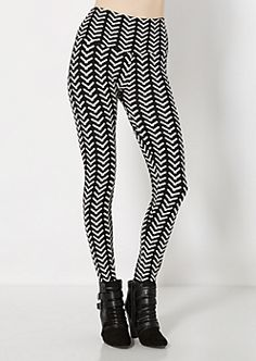 ec00646e8b9f1 Black and White Digital Brushed Legging Printed Leggings, Rue 21, Black And  White,