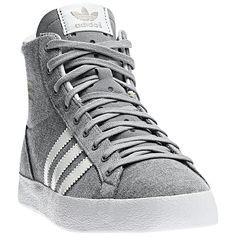My Adidas--grey high tops