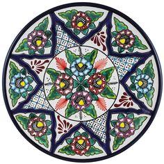 Tomas Huerta TalaveraPlate - Pattern 58 ♥️♣️♣️Talavera Mexican Pottery : More At FOSTERGINGER @ Pinterest ♣️