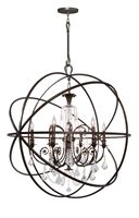 Show products in category Crystorama Lighting 9219-EB-CL-MWP Chandelier  from the solaris collection