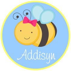 girly bee - personalized  digital image