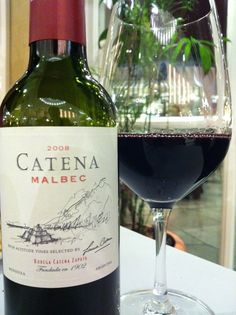 Catena Malbec 2008 Mendoza Argentina. I love her wines!!