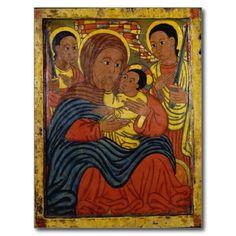 Ethiopian Black Madonna with Christ Child Post Card