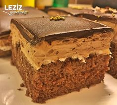Image may contain: dessert and food Turkish Recipes, Ethnic Recipes, Turkish Delight, Food And Drink, Chocolate, Cake, Desserts, Cookie Cakes, Eten