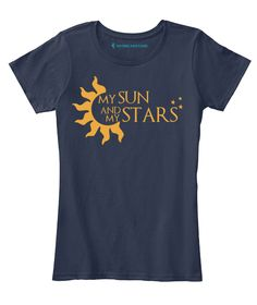 Grab this Limited Edition Khal & Khaleesi - Game of Thrones tee and hoodie...!!! MY SUN AND MY STARS  FREE Shipping For Pre-Paid payment, Get discount of Rs. 50/- Cash On Delivery High Quality Print 15 Days Free Returns