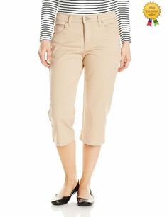 New Worthington Tan Capri Cropped Ankle Pant Womans 20W 20 Modern Fit Mid Rise