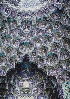 Imam Mosque in Isfahan, Iran, regarded as one of the masterpieces of Persian Architecture. UNESCO world heritage site.