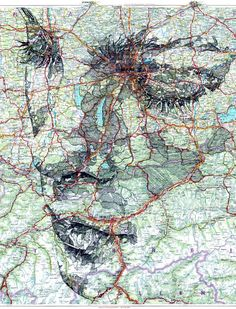 Stunning Ink and Pencil Portraits on Maps - My Modern Metropolis: