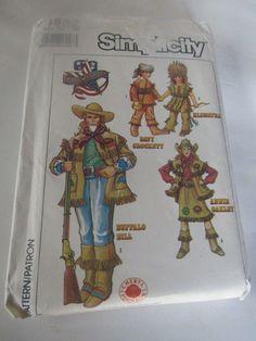 Simplicity Costume Sewing Pattern 8832 Buffalo Bill Davy Crocket Annie Oakley | Crafts, Sewing, Sewing Patterns | eBay!