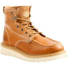 Cheap Dickies Mens Trader Leather Work Boots - Tan Tan 8.5 new - The Dickies Trader work boots feature premium full grain leather with welt technology. A padded tongue provides increased comfort. The...