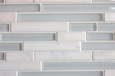 Glass and Marble Back Splash. Love it!