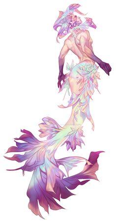 Iridescent merman for MerMay 2019 Mermaid Drawings, Mermaid Art, Art Drawings, Fantasy Character Design, Character Inspiration, Character Art, Pretty Art, Cute Art, Art Mignon