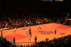 Madison Square Gardens watching New York Knicks. Read my review here http://thatideasgirl.com/travel/idea-28-new-york