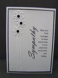 Sympathy card by frankie