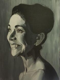 PORTRÄT MARGOT FONTEYN/Acryl auf Leinwand/60 x 80cm Margot Fonteyn, Spirited Art, Canvas