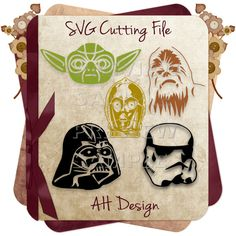 Star Wars Characters  Yoda, C3PO, Chewbacca, Darth Vader, Stormtrooper SVG Cutting Files by AHDesignStudios on Etsy https://www.etsy.com/listing/262308509/star-wars-characters-yoda-c3po-chewbacca
