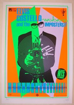 2005 Elvis Costello - Silkscreen Concert Poster by Stainboy | JoJo's Posters