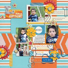 Everyday Life: It's A Boy Thing   Collection by Tickled Pink Studio and Designs by Megan Turnidge Second Shot   Vol.14 by Little Green Frog Designs Layout by LovelyMissKait