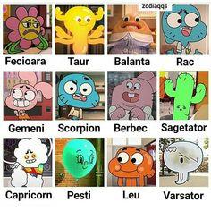 Zodiac Sign Traits, Zodiac Signs Aries, Zodiac Star Signs, Zodiac Art, Taurus And Cancer, Sagittarius And Capricorn, Zodiac Characters, World Of Gumball, Funny Cartoons