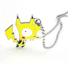 Invader Zim Alien Gir Robot Glitter Pikachu Gir Pendant Necklace, 2015 Amazon Top Rated Necklaces #Toy